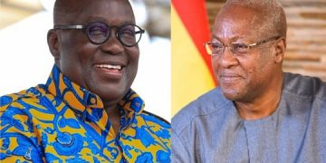 Moody's rates Ghana's IDR at B3 with a negative outlook Moody's rates Ghana's IDR at B3 with a negative outlook Ghana President Nana and former President Mahama 360x180