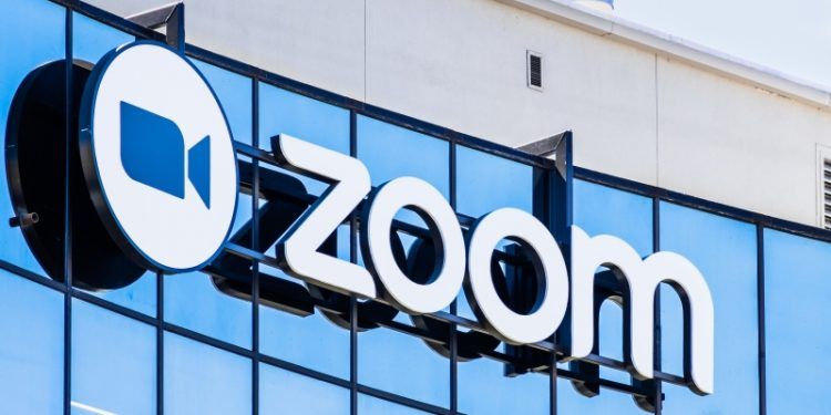 September 3, 2019 San Jose / CA / USA - Close up of Zoom sign at their HQ in Silicon Valley; Zoom Video Communications is a company that provides remote conferencing services using cloud computing kenyans to start paying more for zoom calls starting august 1 Kenyans to start paying more for Zoom calls starting August 1 Zoom 2 750x375