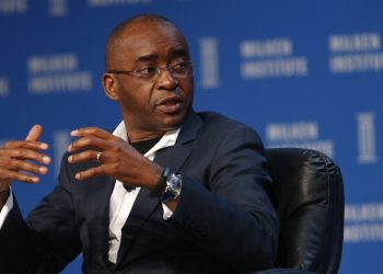 Strive Masiyiwa, founder and chairman of Econet Wireless Global Ltd., speaks during the annual Milken Institute Global Conference in Beverly Hills , California, U.S., on Monday, May 2, 2016. The conference gathers attendees to explore solutions to today's most pressing challenges in financial markets, industry sectors, health, government and education. Photographer: Patrick T. Fallon/Bloomberg via Getty Images qatar world cup 2022: only vaccinated fans allowed Qatar World Cup 2022: Only vaccinated fans allowed strive 350x250