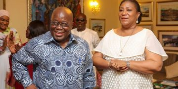 President Akufo-Addo and First Lady Rebecca - norvanreports AngloGold Ashanti says its mine in Guinea is 'operating normally' despite coup AngloGold Ashanti says its mine in Guinea is 'operating normally' despite coup President Akufo Addo and First Lady Rebecca norvanreports 360x180