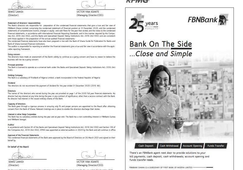 fbn bank financial statement for 2020 FBN Bank Financial Statement for 2020 image 6