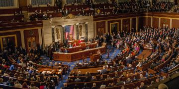 View, from the balcony, of congressmen and congresswomen on the house floor as the 115th Congress is called into session on its opening day, Washington DC, January 3, 2017. (Photo by Mark Reinstein/Corbis via Getty Images) Hearts of Oak's Champions League game in balance over coup in Guinea Hearts of Oak's Champions League game in balance over coup in Guinea US Congress 360x180