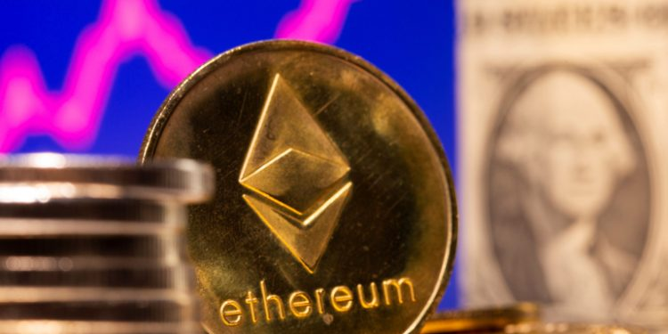 A representation of virtual currency Ethereum and U.S. One Dollar banknote are seen in front of a stock graph in this illustration taken February 19, 2021. REUTERS/Dado Ruvic/Illustration ethereum price rises after elon musk confirms he owns the cryptocurrency Ethereum price rises after Elon Musk confirms he owns the cryptocurrency ethereum 1 750x375