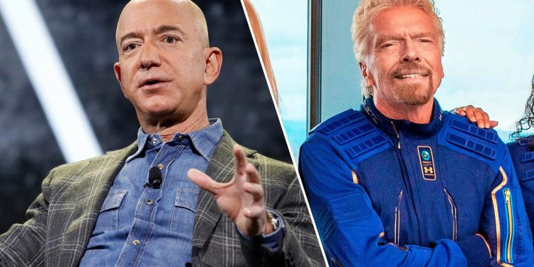 'space tourism' tax proposed after two recent successful missions 'Space tourism' tax proposed after two recent successful missions jeff bezos richard branson 750x375