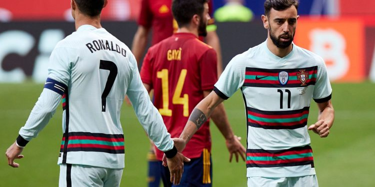 Bruno Fernandes and Cristiano Ronaldo: Will they gel for Manchester United better than with Portugal? Bruno Fernandes and Cristiano Ronaldo: Will they gel for Manchester United better than with Portugal? skysports bruno fernandes cristiano ronaldo 5408265 750x375