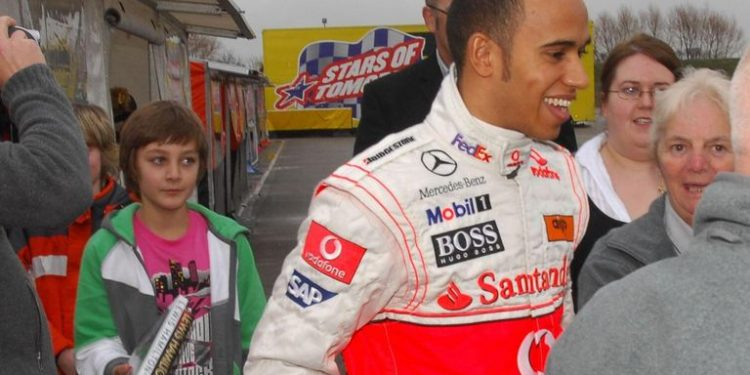 George Russell recalls first Lewis Hamilton encounter, aged 11 in 2009: 'Like meeting a superhero' George Russell recalls first Lewis Hamilton encounter, aged 11 in 2009: 'Like meeting a superhero' skysports lewis hamilton f1 5506496 750x375