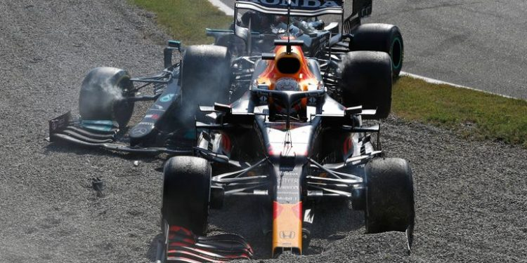 Italian GP: Max Verstappen handed three-place Russia grid penalty after Lewis Hamilton crash Italian GP: Max Verstappen handed three-place Russia grid penalty after Lewis Hamilton crash skysports max verstappen lewis hamilton 5510294 750x375